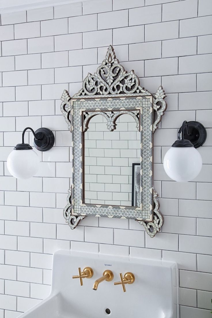 Paint color and design for mirror frame? Mediterranean Style