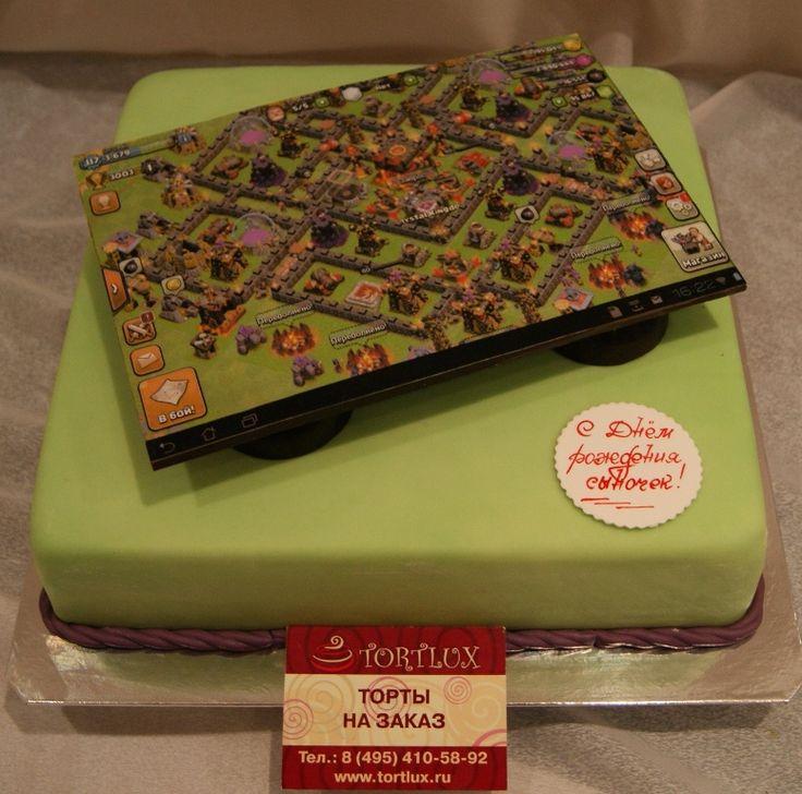 Фото торт на тему компьютерной игры.
