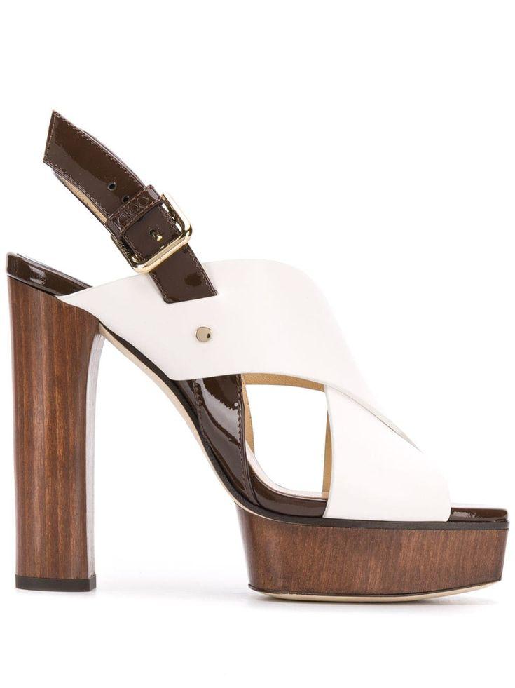 Jimmy Choo Aix Platform Slingback Sandal in Black - Lyst