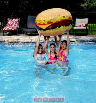 Ballon de plage Burger Géant | acceuil