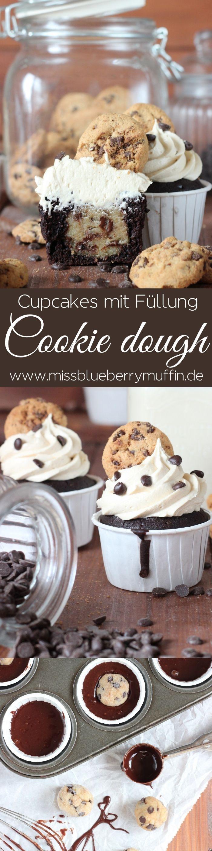 Köstliche Cupcakes mit einer Füllung aus Keksteig! ♥ // Das Beste für die gaaanze Familie!// Cookie dough Cupcakes