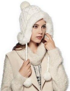 Warm Natural Rabbit Fur Beanie Cap! $29.99  http://www.coolcoolhats.com/  #hats #fashion #caps #beanies