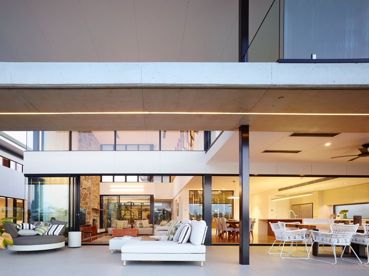 Wide overhangs feature on this resort style two level residence  #interiors #interiordesign #outdoorliving #indooroutdoor #resort #house #home #lifestyle #style