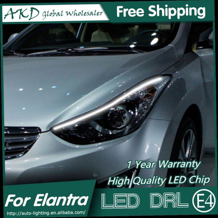 106.95$  Buy here - http://alimdv.worldwells.pw/go.php?t=32690097146 - AKD Car Styling LED DRL for Elantra 2011-2015 New Elantra MD Eye Brow Light LED External Lamp Signal Parking Accessories