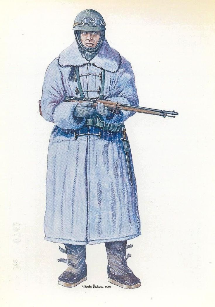 Regio Esercito - SENTINELLA ALPINA CON L' UNIFORME INVERNALE PER L'ALTA MONTAGNA (1915-1918)