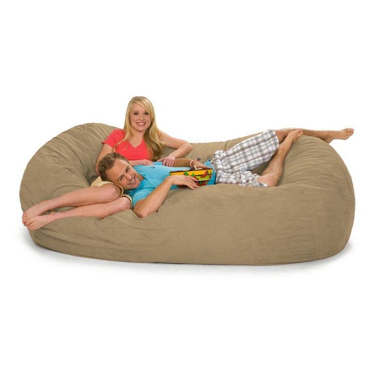 Relax Sack 7 ft. Microsuede Foam Bean Bag Lounger Camel - 7OV-MS009