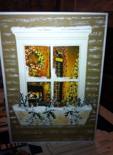 Outside looking in Christmas Card - cool look.