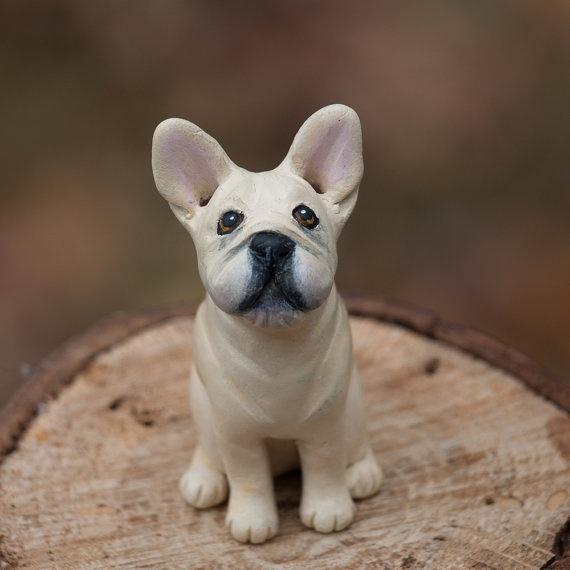 Original French Bulldog Ornament by ThreeDogFarmStudio on Etsy, $15.00