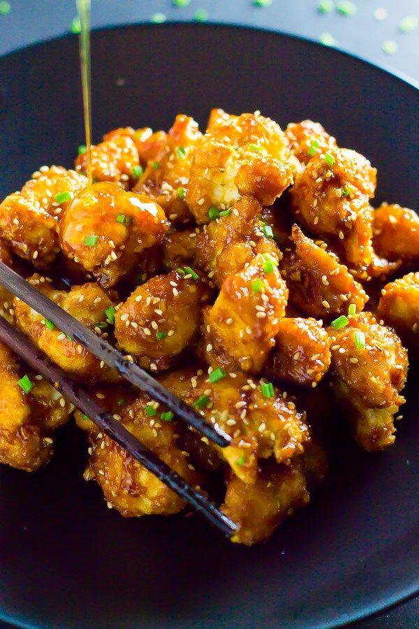 Baked Honey Garlic Cauliflower