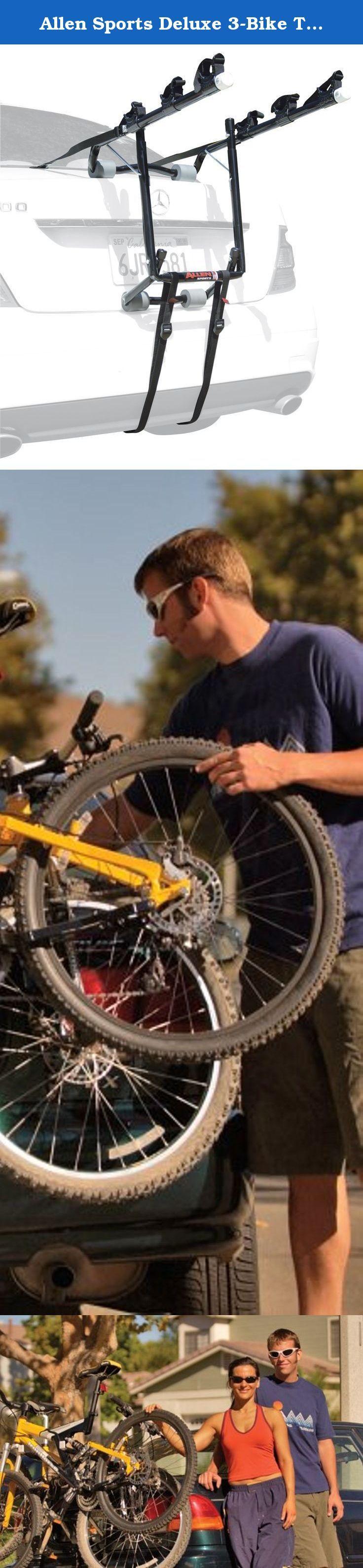 Allen Sports Deluxe 3-Bike Trunk Mount Rack. Fits sedans, hatchbacks, mini-vans & SUVs.