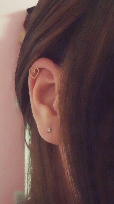 Tiny Heart Cartilage Earring on Etsy, $6.50