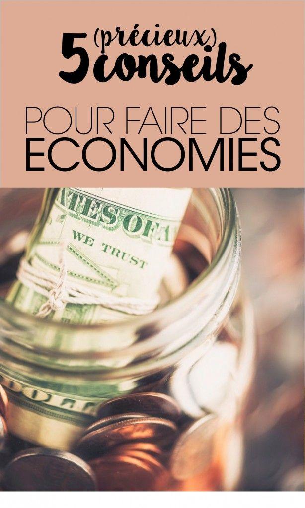 5-CONSEILS POUR FAIRE DES ECONOMIES