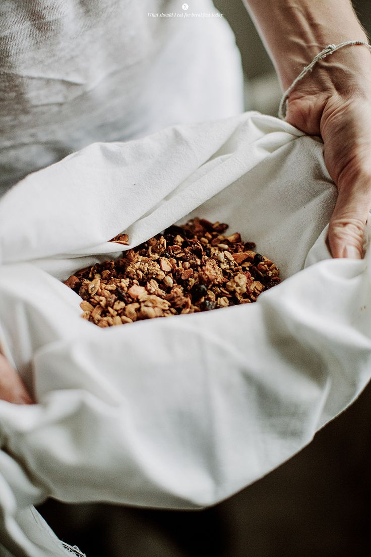 homemade granola with earl grey flavour