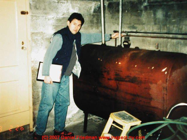 Indoor oil storage tank, abandoned (C) Daniel Friedman