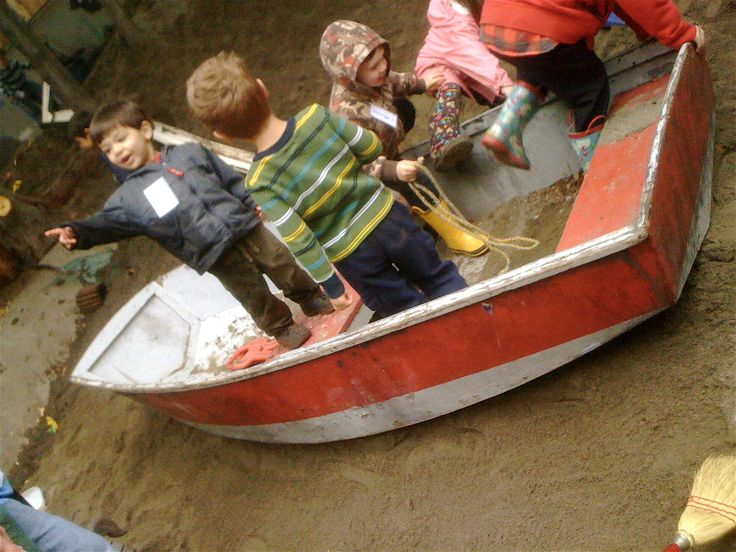 boat in outdoor play space