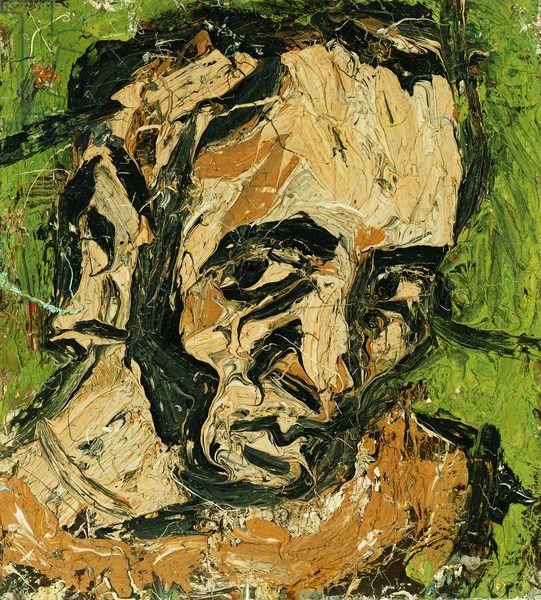 Self-Portrait, 1972 (oil on board), Kossoff, Leon (b.1926) / Private Collection / Photo © Christie's Images / Bridgeman Images