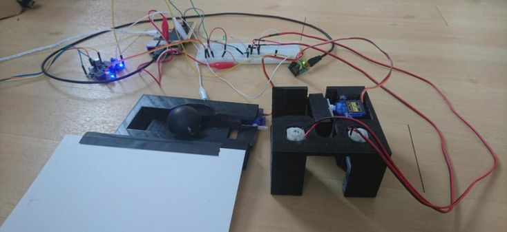A robot that launches a ping-pong ball, fetches it and launches the ball again made with the Pi Cap and #raspberrypi