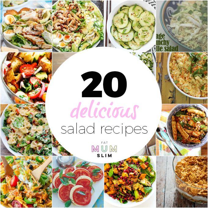 20 Delicious Salad Recipe Ideas - Fat Mum Slim