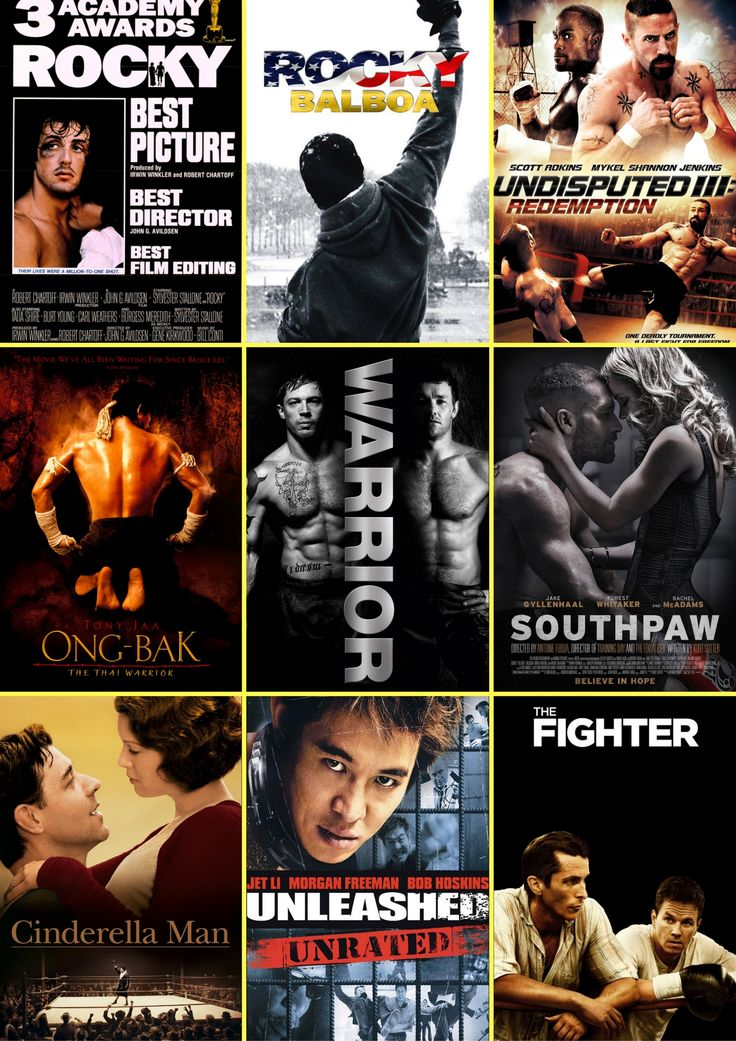 - Martial Arts & Kung Fu Movies Best Fighting Movies - Rocky (1976), Rocky Balboa (2006), Undisputed III: Redemption (2010), Ong-bak (2003), Warrior (2011), Southpaw (2015), Cinderella Man (2005), Unleashed (2005), The Fighter (2010).