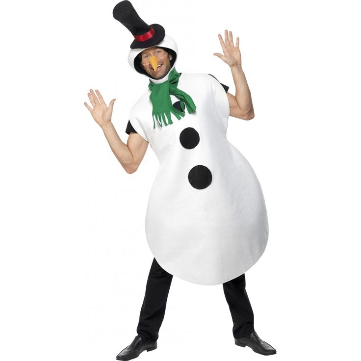 Carnavalspak sneeuwpop  Sneeuwpop kostuum. Mooi sneeuwpop kostuum voor volwassenen. Bij het kostuum zit een sjaal hoed en een wortel neus. One size geschikt voor dames en heren.  EUR 49.95  Meer informatie