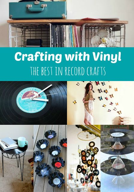 Goodwill Tips: Crafting With Vinyl: The Best in Record Crafts. I love the scratchy sound of music on vinyl and the old diners decorated with 45's. Seems to make the food taste so much better. Brings back many good memories too.