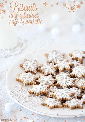 """Cette fois, je décline mon mélange """"chouchou"""" de farines en petits biscuits. Pour la déco, va falloir que je m'entraine un peu ! ;)"""