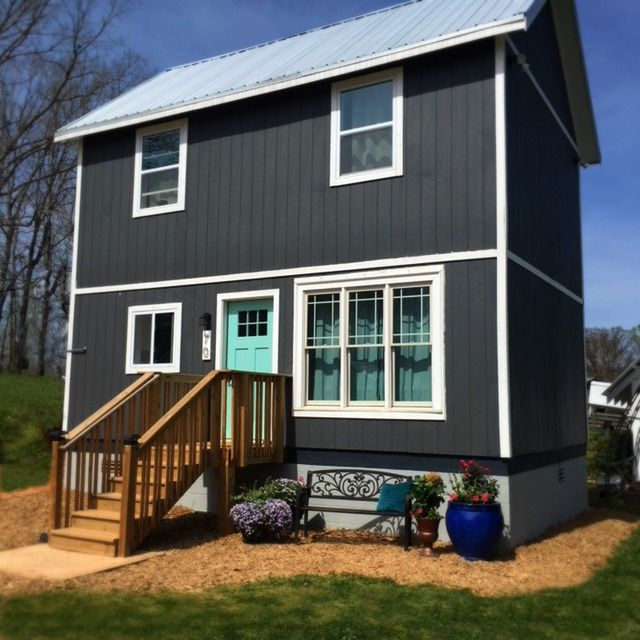 Tiny Homes Don T Always Come On Wheels This Two Story Tiny House