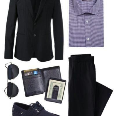 черный мужской костюм бизнес кэжуал