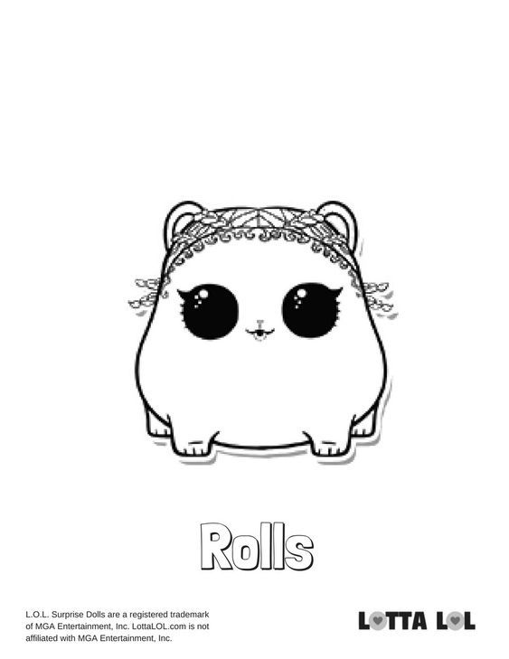 Rolls Coloring Page Lotta Lol Coloring Pages Lol Dolls Coloring Books