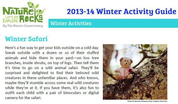 Outdoors winter activities