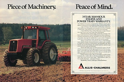 8000 Series Allis-Chalmers Tractor Ad - Warranty