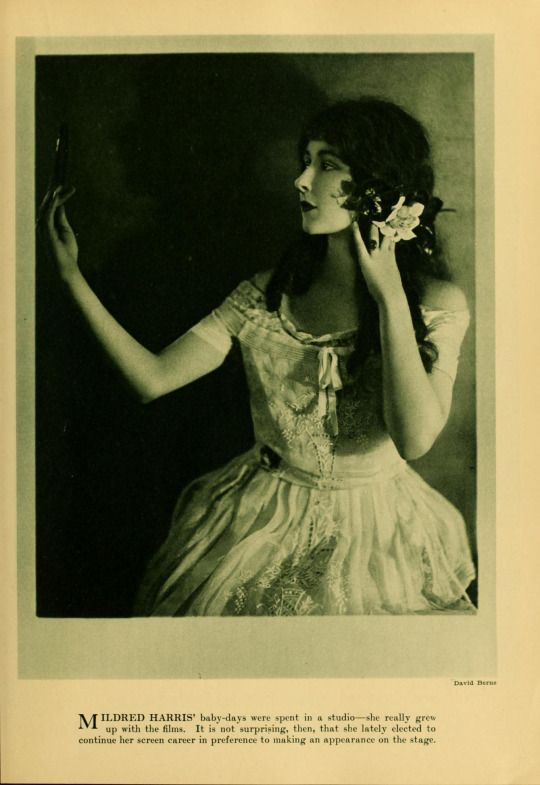 """1921 portrait of Mildred Harris from """"Photoplay"""" magazine"""