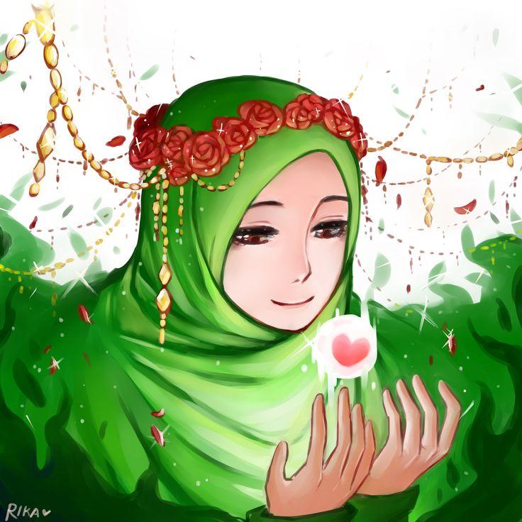 Картинки девочки в хиджабе анимационные