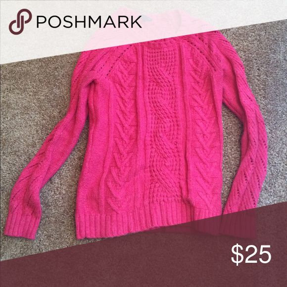 Hot pink sweater Long sleeve, thick sweater GAP Sweaters Crew & Scoop Necks