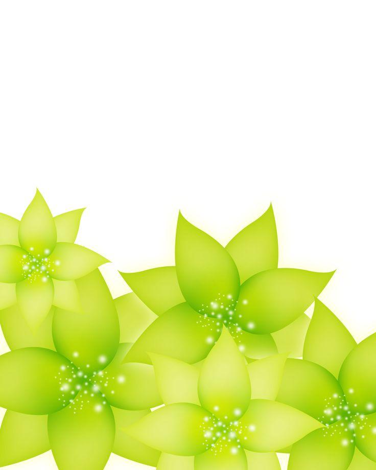 葉っぱの背景・壁紙イラスト-緑の葉・淡い光の粒