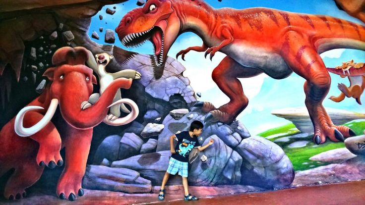 Ice Age at Dufan (Dunia Fantasi)  Lil dino so excited, cause he can rides jet coaster, arung jeram etc