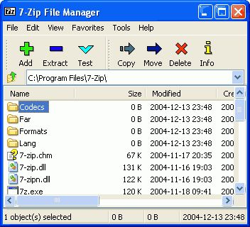 7-Zip... free file compression software. Pack and unpack files. Click on image to go to website and download.