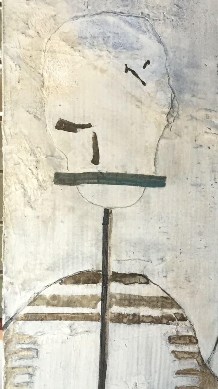 SHH - Silence   Acrylics on canvas
