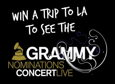 Tomorrow is the LAST DAY to enter to win a trip to LA to see the GRAMMY Nominations announced LIVE on December 6th!! Click through the photo to enter!