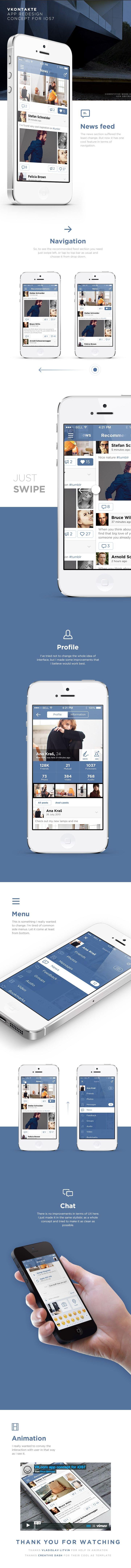 https://www.behance.net/gallery/VKcom-app-concept-for-iOS7/10547425