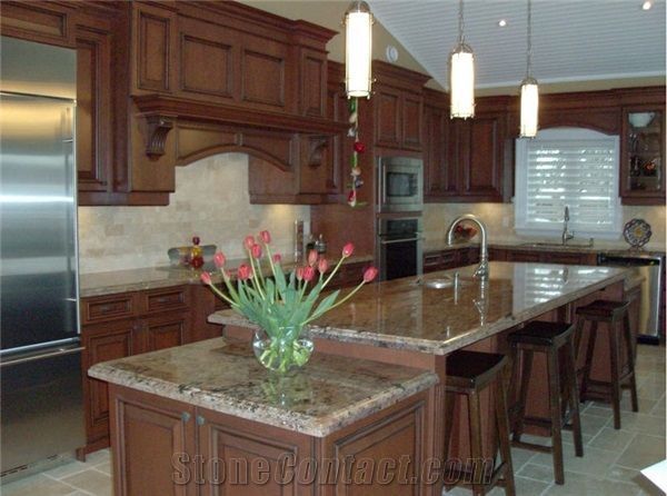 Typhoon Bordeaux Granite Kitchen Top Pmi Countertops
