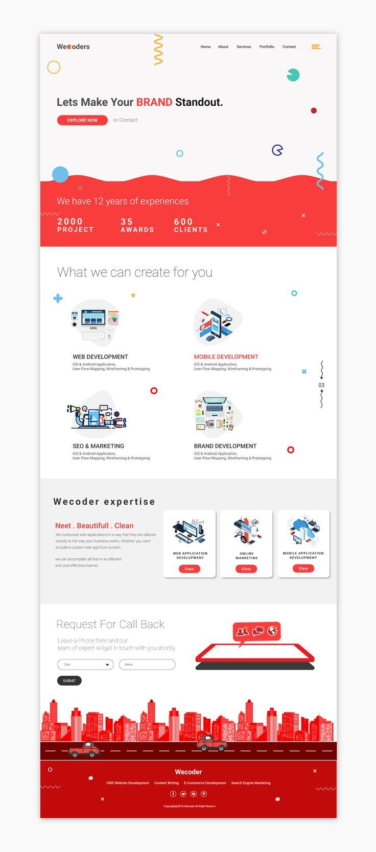 Website Design With Complete Psd Html5 Bootstrap Sass Web Design Quotes Landing Page Inspiration Fun Website Design