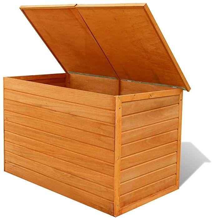 Hartholz Auflagenbox Kissenbox Gartenbox 116 X 72 X 72 Cm Braun Poly Rattan Wasserdicht Holz Auflagenbox Fur Aufbewahrung Garten Gartenbox Auflagenbox
