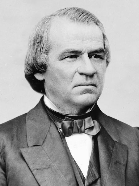 Andrew Johnson, 17th President – took office after Lincoln's death. Johnson presided over the initial and contentious Reconstruction era of the US following the Civil War. His signature legislative endeavor was passage of the Homestead Act. Under his presidency, Sec. of State William Seward purchased Alaska from Russia in 1867.