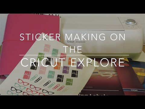 """How I Make Planner Stickers on My Cricut Explore - YouTube"" This was SO beyond helpful to make a sheet of planner stickers."