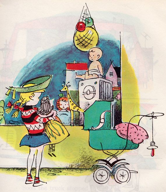Kathy and the Doll Buggy by Jens Sigsgaard, illustrated by Arne Ungermann