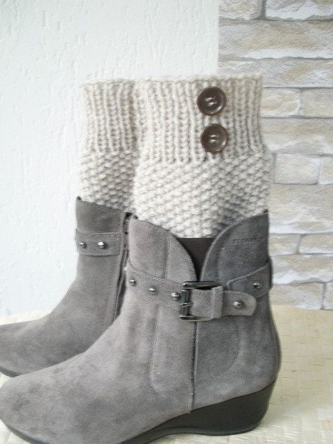Boot Cuffs  Boot Socks Leg warmers    Legwarmers  Knit  by Ebruk