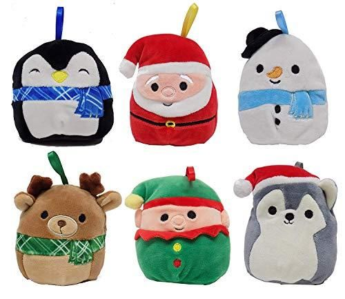 Buy Squishmallows Christmas Holiday Plush Ornament Set 6 Pack Online At Low Prices In Usa Ergode Com Christmas Plush Ornament Set Animal Pillows