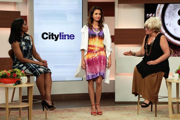 Look #6: White hooded travellers coat, $199 Mikado draped front dress, $129 http://www.cityline.ca/…/cityline-lookbook-hot-spring-look…/ #Cityline #FashionFriday #SPANNER #Canadian #Fashion #LynnSpence #TracyMoore