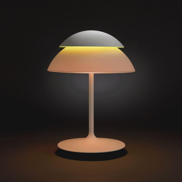 Lampa stołowa Hue Beyond ma dwa niezależne źródła światła — oświetlające górną i dolną półprzestrzeń, dzięki czemu możemy tworzyć nieograniczoną paletę  kolorów dopasowaną do nastroju lub aktywności. #design #salon #kuchnia #jadalnia #domowebiuro #interior #LED #Philips #Showroom #Duchnicka #PhilipsLighting #PoznajHue